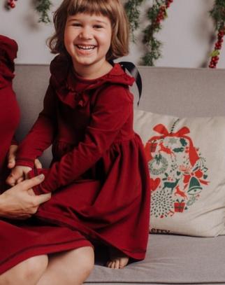 Sukienka z falbanką - Christmas Collection