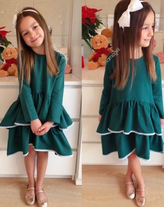 Sukienka Dla Dziewczynki Amalfi Green Christmas