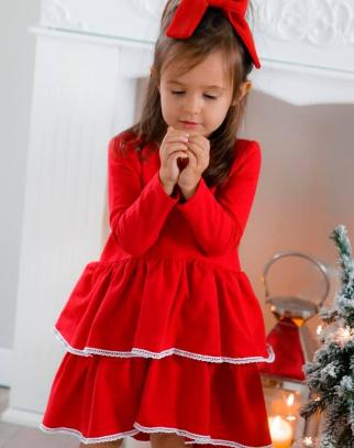 Sukienka Dla Dziewczynki Amalfi Red Christmas