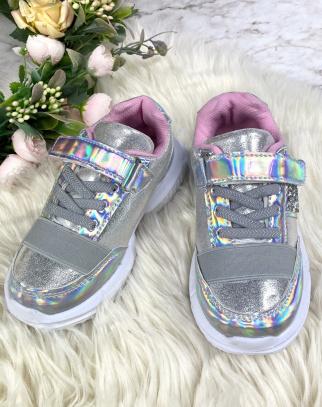 Buty Sportowe dla Dziewczynki Metallic Grey