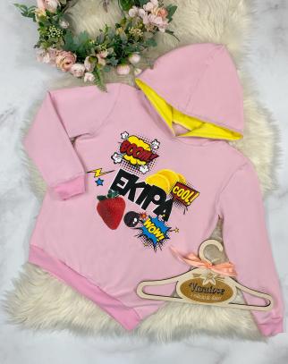 Bluza z kapturem EKIPA - Pink