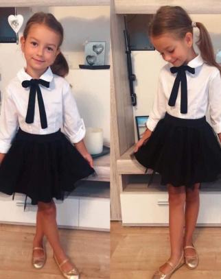 Komplet dla Dziewczynki Back To School Black