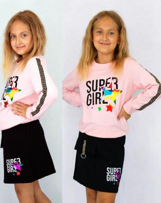 Komplet dla dziewczynki Super Girl