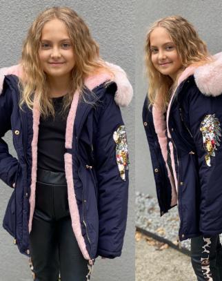 Parka zimowa dla dziewczynki Angel Granat
