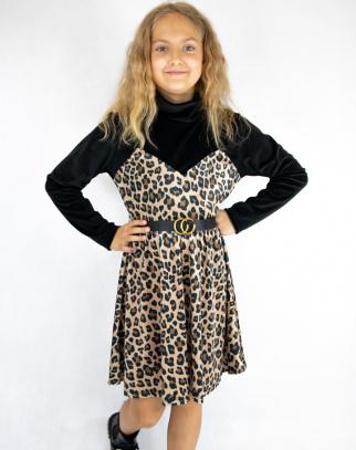 Sukienka welurowa dla Dziewczynki Savanna