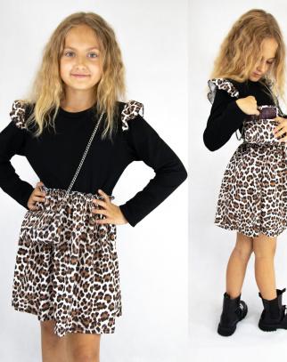 Sukienka dla Dziewczynki Sophie w panterkę
