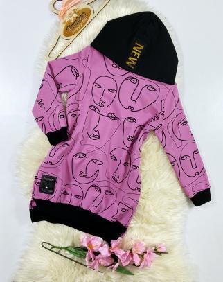 Bluza/Tunika dla Dziewczynki Faces Pink