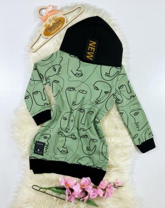 Bluza/Tunika dla Dziewczynki Faces Green
