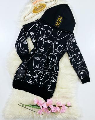 Bluza/Tunika dla Dziewczynki Faces Black