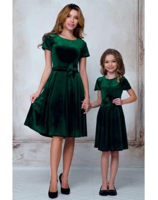 Sukienka Damska Mama&Córka welurowa Vert