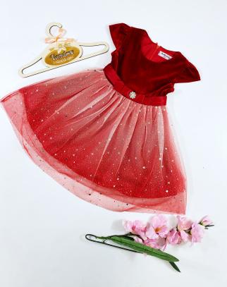 Sukienka dla Dziewczynki Amanda Diamonds - krótki rękaw