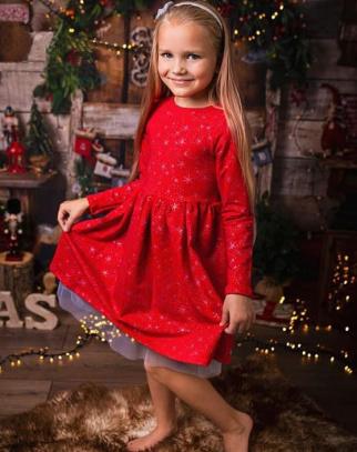 Sukienka dla Dziewczynki Stars Red