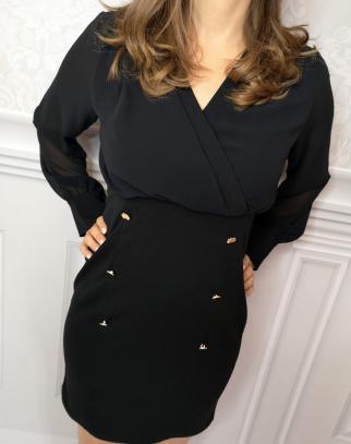 Sukienka Paris - czerń + czerń