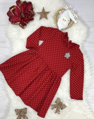 Sukienka w groszki - Czerwona